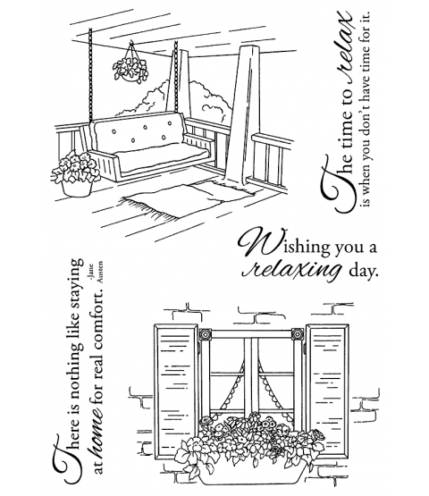 Nancy Baier Home Sweet Home Clear Stamp Set 11178MC