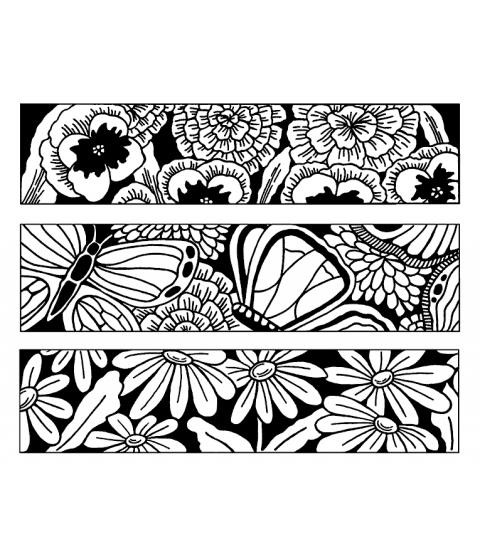 Nancy Baier Large Blooms & Butterflies Cling Mount Stamp Set CLS-002