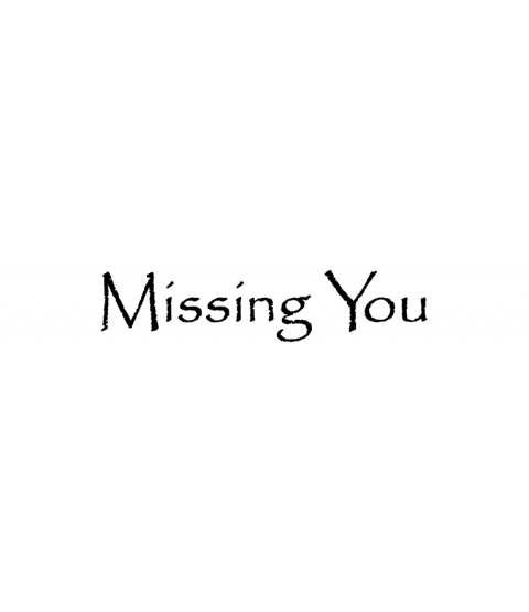 Nancy Baier Missing You Wood Mount Stamp D6-0407D