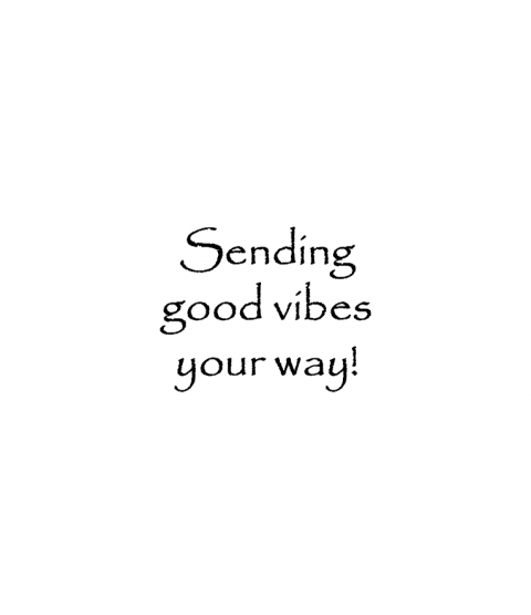 Nancy Baier Sending Good Vibes Wood Mount Stamp D3-0499D