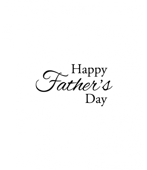 Nancy Baier Happy Father's Day Wood Mount Stamp D2-0758D