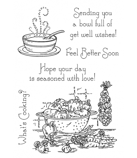 Nancy Baier Soup Time Clear Stamp Set 11146MC