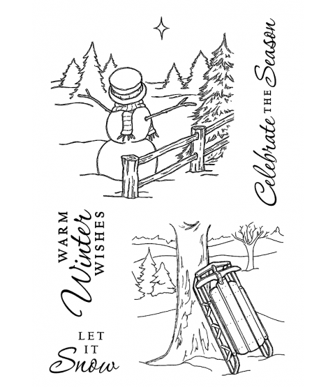 Nancy Baier Winter Fun Clear Stamp Set 11212MC