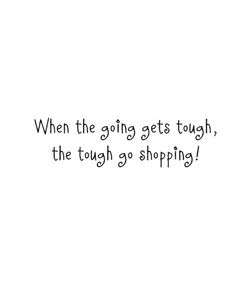 Nancye Williams Tough Go Shopping Wood Mount Stamp E3-0279E