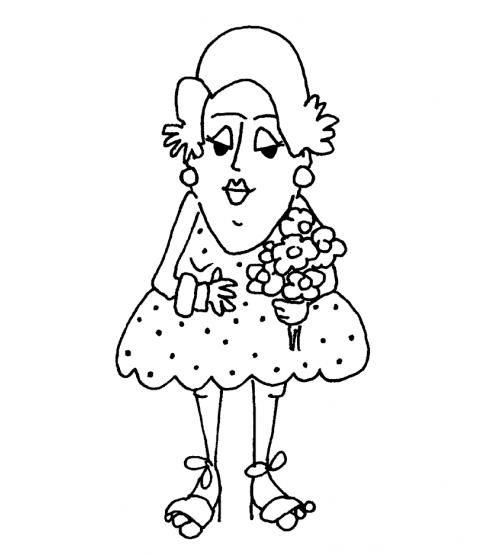 Nancye Williams Trixie Wood Mount Stamp K3-0468H
