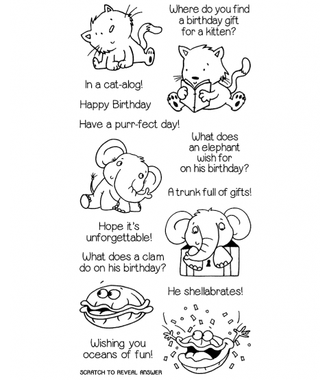 Nicola Storr Birthday Riddles Clear Stamp Set - 11354LC