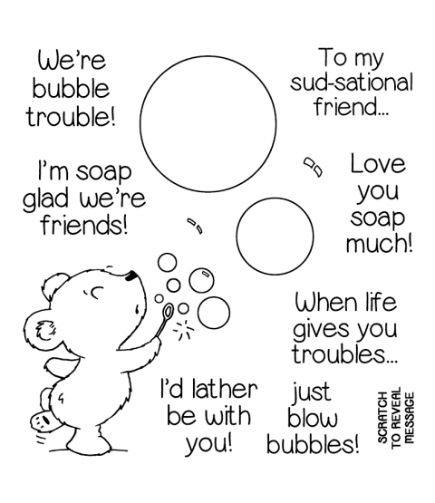 Bubble Bear Clear Stamp Set 11367SC