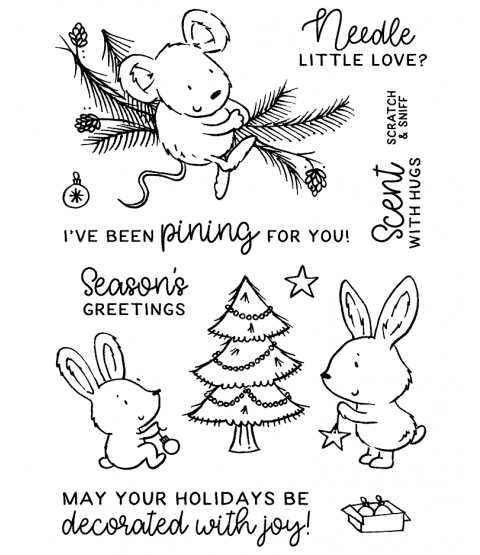 Christmas Pine Critters Clear Stamp Set - 11383MC
