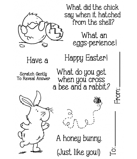 Nicola Storr Easter Riddles #1 Clear Stamp Set - 11336MC