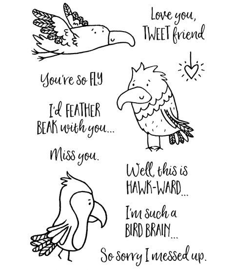 Feathered Friends Clear Stamp Set 11431MC