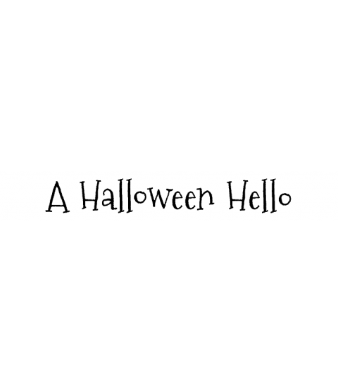 Nicola Storr Halloween Hello Wood Mount Stamp D5-5160D