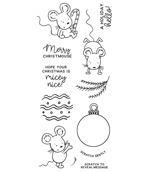 Ornament Mice Clear Stamp Set - 11384LC