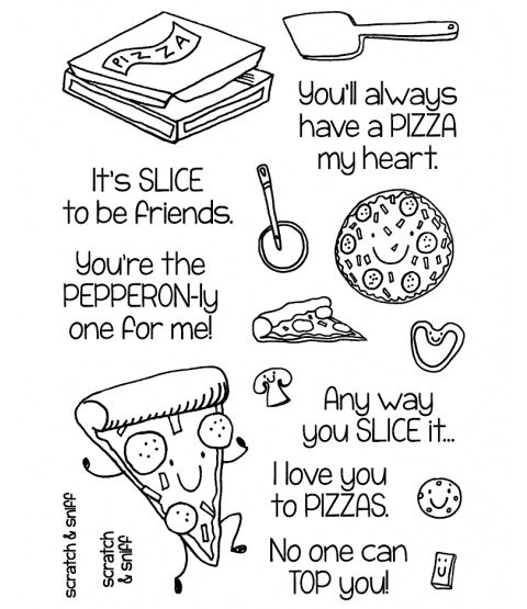 Pizza Clear Stamp Set 11364MC