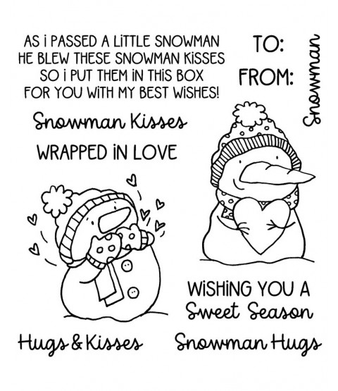Snowman Hugs and Kisses Clear Stamp Set 11477SC