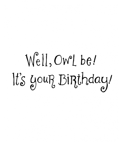 Ronnie Walter Owl Be Birthday Wood Mount Stamp E2-1571E