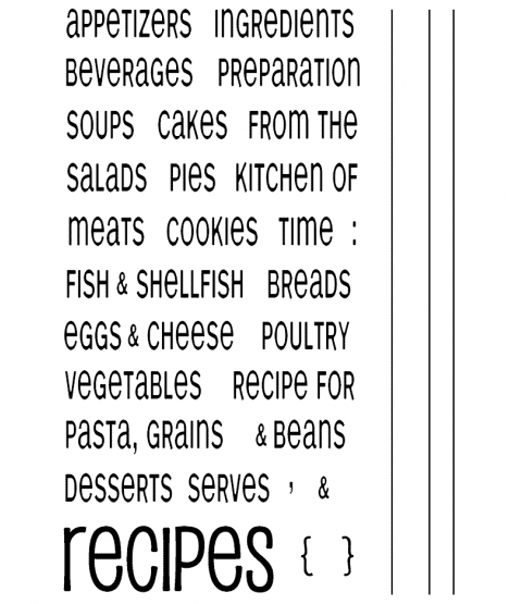 Recipe Clear Stamp Set 10967MC