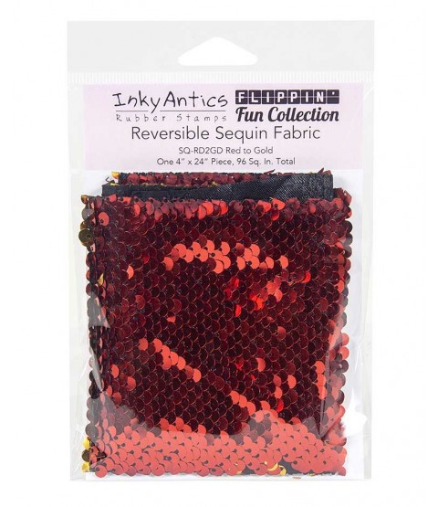 Reversible Sequin Fabric: Red to Gold SQRD2GD