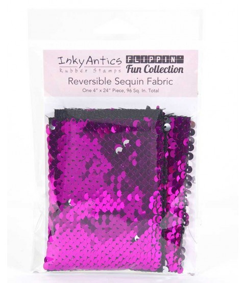Reversible Sequin Fabric: Fuchsia to Silver SQFU2SL
