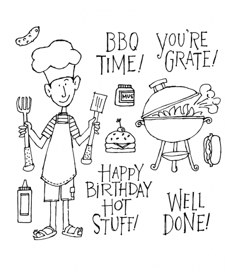 Ronnie Walter BBQ Time Clear Stamp Set 10973SC