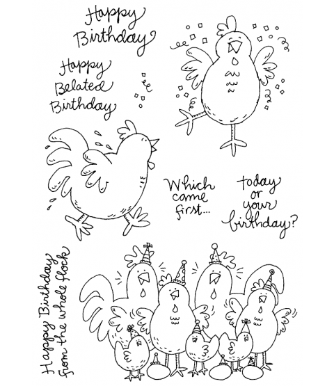 Birthday Chicks Clear Stamp Set 11291MC