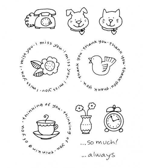 Ronnie Walter Circle Sentiments #2 Clear Stamp Set 10964MC