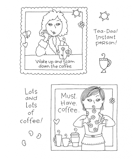 Ronnie Walter My Friend Ronnie Coffee #1 Clear Stamp Set 10924MC