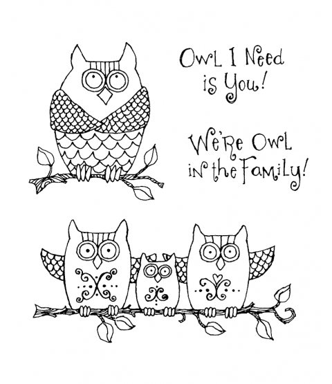 Ronnie Walter Owl Family Clear Stamp Set 10974SC
