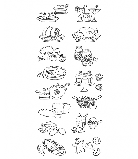Ronnie Walter Recipe Icons Clear Stamp Set 10962LC