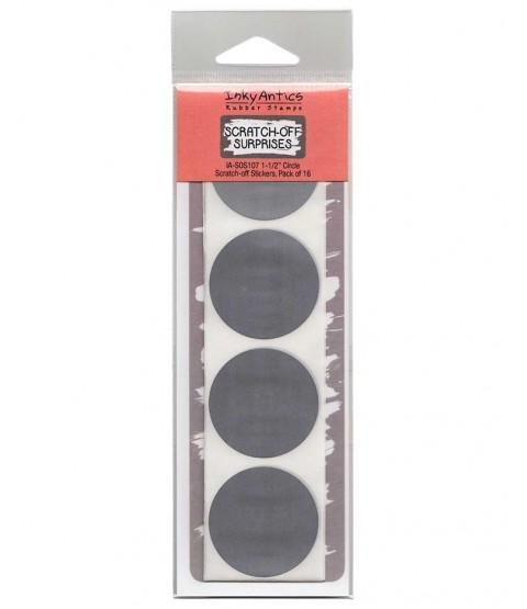 "1 1/2"" Circle Silver Scratch-off Stickers - SOS107"