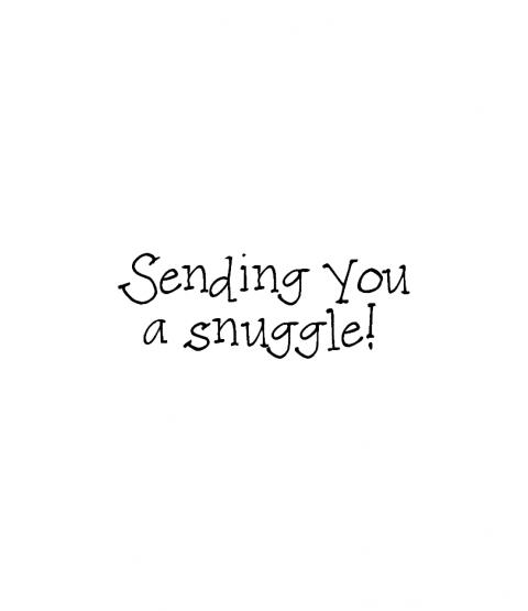 Janie Miller Sending Snuggle Wood Mount Stamp D6-10477D