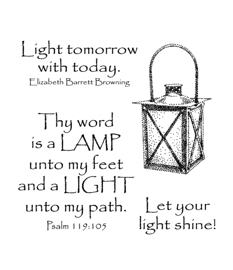 Shining Lantern Clear Stamp Set 11073SC