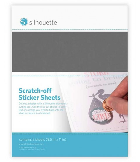 Scratch-off Sticker Sheets: Silver SCRATCHSVR