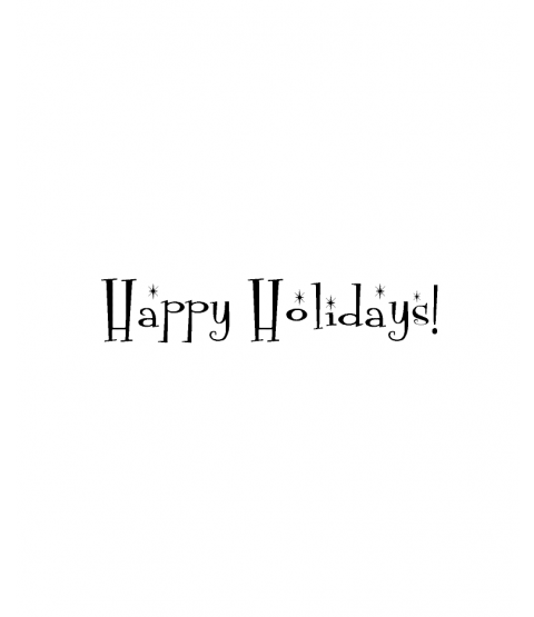 Sparkly Holidays Wood Mount Stamp D6-10007D