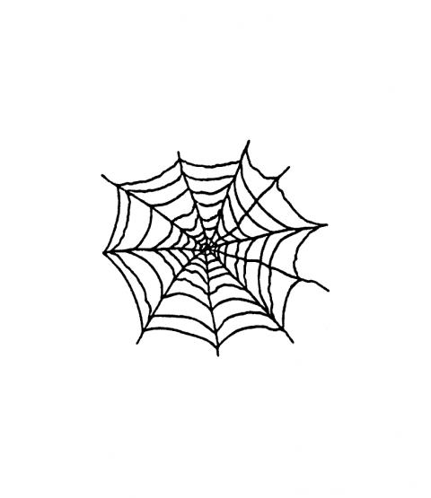 Janie Miller Spider Web Wood Mount Stamp D1-23156E