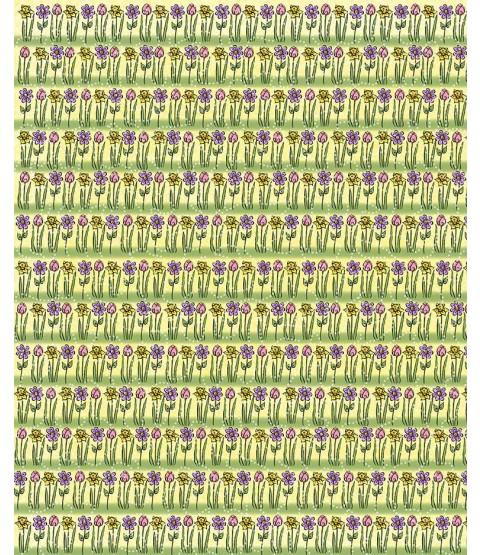 "Spring Flowers 12"" x 12"" Printed Paper - PTW005"