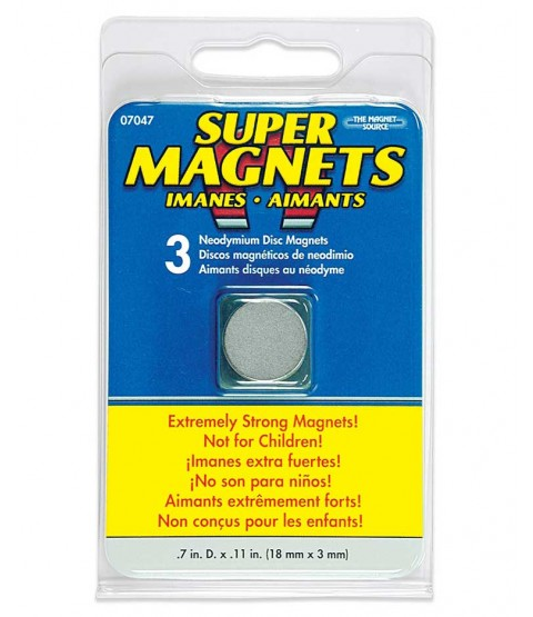 "Disc Magnets, 3/4"" x 1/8"" - MAG07047"