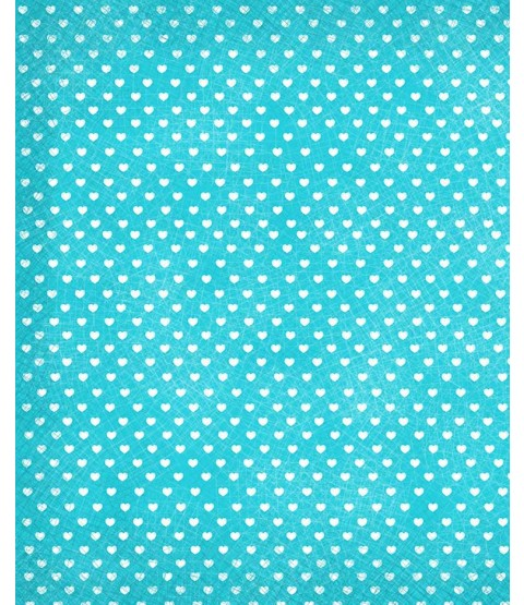 "Sweethearts Blue Raspberry 8 1/2"" x 11"" Printed Paper - PA009"