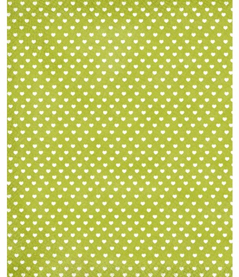 "Sweethearts Lime 12"" x 18"" Printed Cardstock - SPAC012"
