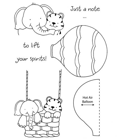 Tammy DeYoung Balloon Buddies Clear Stamp Set 11086MC