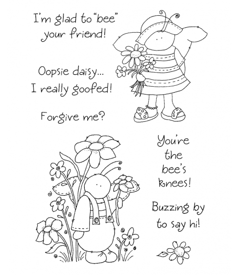 Tammy DeYoung Bumbly Bees Clear Stamp Set 10987MC