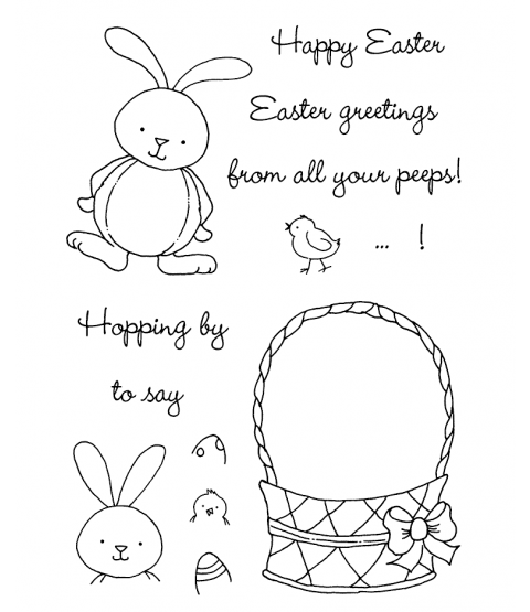 Tammy DeYoung Bunny Parade Clear Stamp Set 11091MC