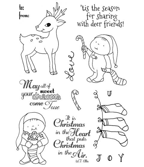 Tammy DeYoung Candy Cane Friends Clear Stamp Set 11186MC