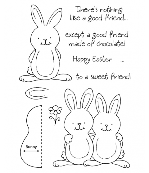 Tammy DeYoung Chocolate Rabbit Clear Stamp Set 11088MC
