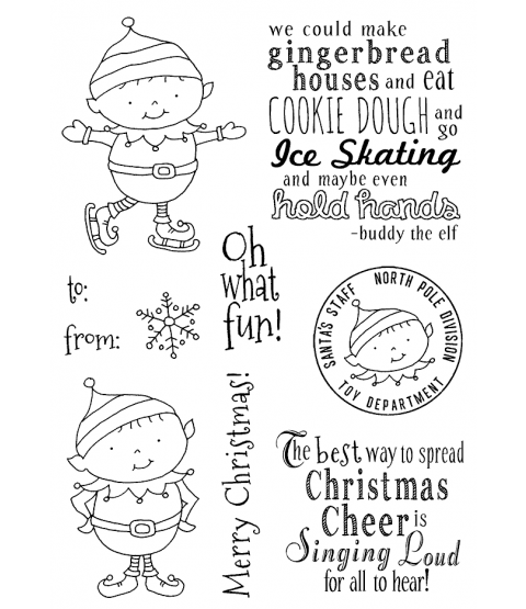 Tammy DeYoung Christmas Elves Clear Stamp Set 11187MC