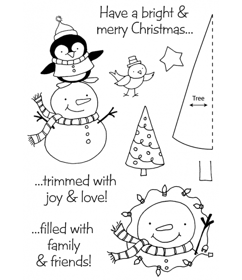 Tammy DeYoung Christmas Friends Clear Stamp Set 11192MC