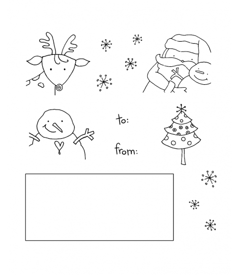 Tammy DeYoung Christmas Gift Tags Clear Stamp Set 11001SC