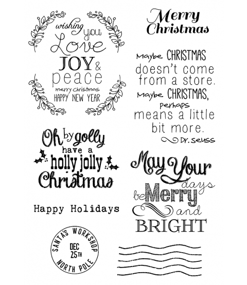 Tammy DeYoung Christmas Sentiments Clear Stamp Set 11188MC