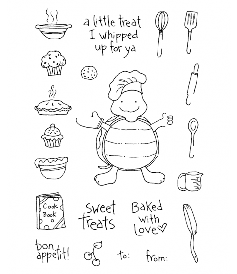 Tammy DeYoung Cooking Turtle Clear Stamp Set 10994MC