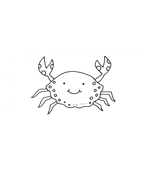 Tammy DeYoung Crab Wood Mount Stamp E1-4945E