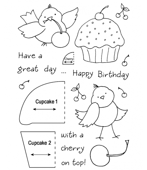 Tammy DeYoung Cupcake Birdy Clear Stamp Set 11026MC